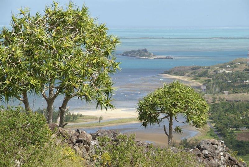 Paysage au bord de mer à Rodrigues